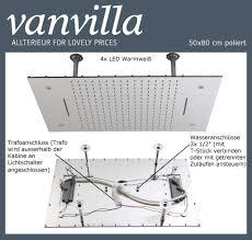 Duschkopf Vanvilla Led 50cm X 80cm Poliert 115080w P Led