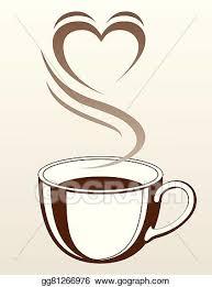 tea cup heart clip art. Plain Art Coffee Or Tea Cup With Heart And Clip Art