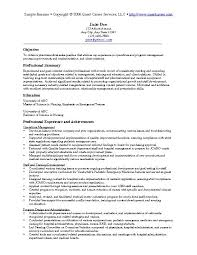 sample resume name examples of excellent resumes