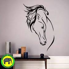 horse wall art animal social company horse head only wall sticker black and white horse canvas