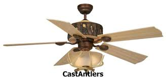 52 woodlands rustic faux antler ceiling fan