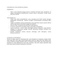 Contoh review jurnal kesehatan judul: Contoh Kelebihan Dan Kekurangan Jurnal Jawabanku Id