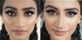 how to contour a big nose make your nose appear thinner and shorter you