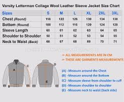Varsity Jacket Size Chart Winter Mens Quilted Varsity Jacket College Letterman Baseball Jacket View Varsity Jacket Custom Brand Product Details From Apex International On