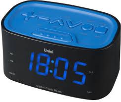 Настольные <b>часы</b> с будильником <b>UNIEL UTR</b>-<b>33BBK</b>
