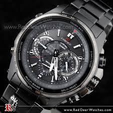 buy casio edifice black ion plated solar atomic chronograph men s casio edifice black ion plated alarm atomic chronograph men s watch eqw t720dc 1a