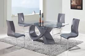 rectangle glass dining room table. D989 Dining Table W Glass Top Grey Base By Global Options Rectangle Room L
