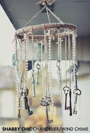 #6 Shabby Chic Wind Chime Realized With Rope Keys and Marbles