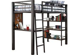 Louie Gray 2 Pc Full Loft Bed Bunk Loft Beds Colors