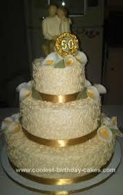 Coolest 50th Wedding Anniversary Cake Design