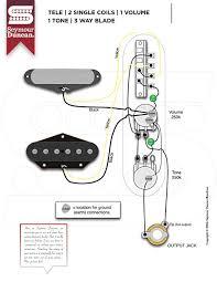 wiring diagrams seymour duncan part  tele 2 single coils 1 volume 1 tone 3 way blade