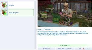 Garden Design Career Custom Sims 48 Gardener Career Guide Seasons FloristBotanist