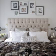 Luxurious Bedroom With Grey Button Back Headboard