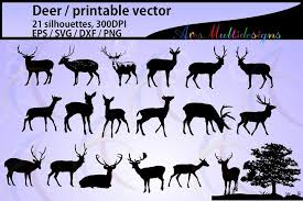It's high quality and easy to use. Deer Silhouette Deer Silhouette Svg File Vector Deer Deer Svg Eps Png Dxf Autumn Deer And Antler Silhouette Tree Silhouette 21nos 18079 I Silhouette Vector Deer Silhouette Silhouette Svg