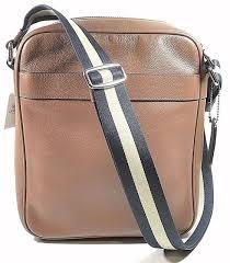 coach mens leather shoulder cross flight bag f54782 cwh