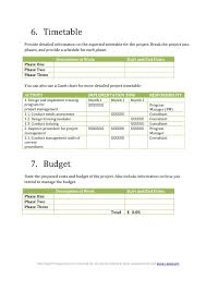 Project Management Proposal Template Free 39 Best Consulting