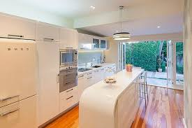 View In Gallery Modern Art Deco Kitchen With White Furniture