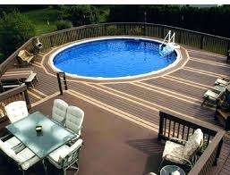 Inground Pool Deck Small Above Ground Pool Ideas Above Ground Pool