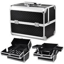 2016 high quality profession large makeup case black beauty tools box cosmatic storage bo magic vanity