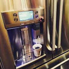 refrigerator with keurig coffee maker. GE Caf Series French Door Refrigerator With Keurig KCup Brewing System Hot Water At Your Fingertips As Seen IBSVegas To Coffee Maker