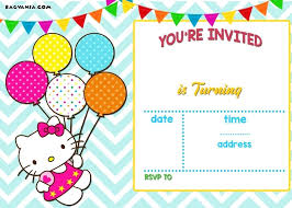 Hello Kitty Invitations Also How To Make Birthday Template Templates