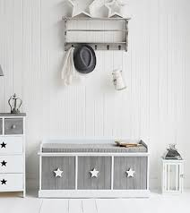 grey and white bedroom furniture. grey and white star cottage bench with drawers hall furniture childrens bedroom