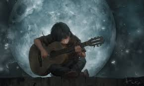 Anime scenery wallpaper, Guitar art