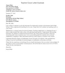 Experienced Teacher Cover Letters Example Teaching Cover Letter Elementary Teacher Cover Letter No
