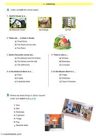 The house interactive and downloadable worksheet. You can do the exercises  online or… | Worksheets, English as a second language (esl), English as a  second language