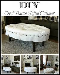 diy oval on tufted ottoman hymns and verses how to make round coffee table ott