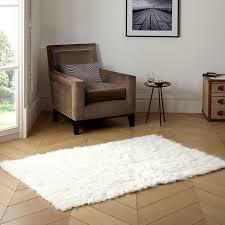 pure eco friendly wool flokati rug white