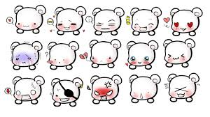 Lotus Notes Emoticons Kawaii Ghosts And Bears On Pinterest