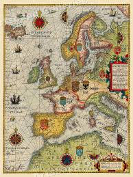 Details About Sea Chart Of Europe 1583 Vintage Style