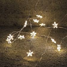 Copper Star Fairy Lights 3m Star Lights Warm White For Decoration Wedding Led Copper Wire String Lights Battery Operate Twinkle Light New Year Decor