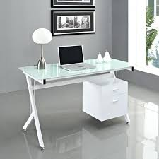 modern glass office desk full. modern glass home office furniture desk glacier white full e