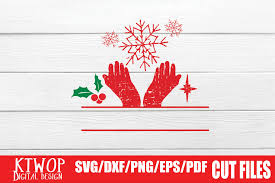 Free svg designs | download free svg files for your own. Free Christmas Hand Glove Monogram Graphic By Ktwop Creative Fabrica
