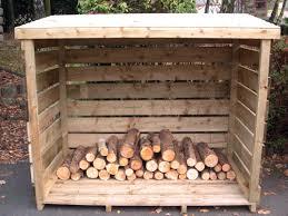 outdoor firewood storage box plans designs