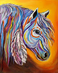 native americans horse paintingsfine art