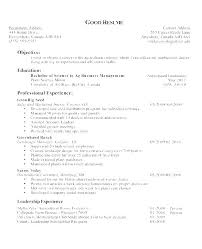 An Example Of A Good Resume Beauteous Resume Objective Examples Customer Service Manager Of On A Do Sample