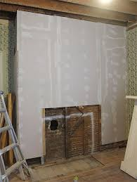 i used fiberglass mesh tape and joint compound to cover the seams and holes you typically do three coats of joint compound with new drywall and then