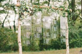 wedding decoration seating chart at our outdoor wedding venue in maryland