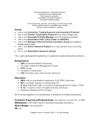 Detailed Resume Confortable Prop Trader Resume Sample Manager Trainee Cover Letter 88