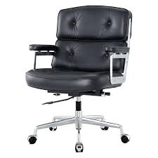office leather chair. Modern Office Chair Black . Leather