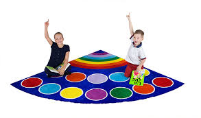 rainbow placement semi circle classroom rugs