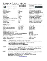 Sample Acting Resume 17 Of Template Adobe Theater Free Templates