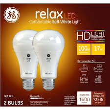 Ge Light Stick 100 Watt 2pk Relax Hd 100watt Led Bulb White General Electric