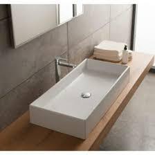 bathroom vessel sinks. bathroom sink rectangular white ceramic vessel scarabeo 8031/80 sinks
