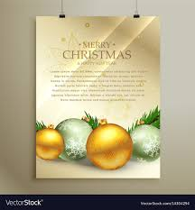 Christmas Flyer Templates Christmas Flyer Template Design With Realistic