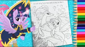 My Little Pony Coloring Book Mlp Colouring Page For Kids Sea Ponies