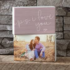 i love you personalized shelf block set of 2